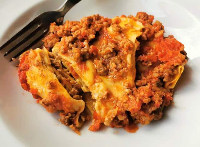baked fazzoletti from Abruzzo