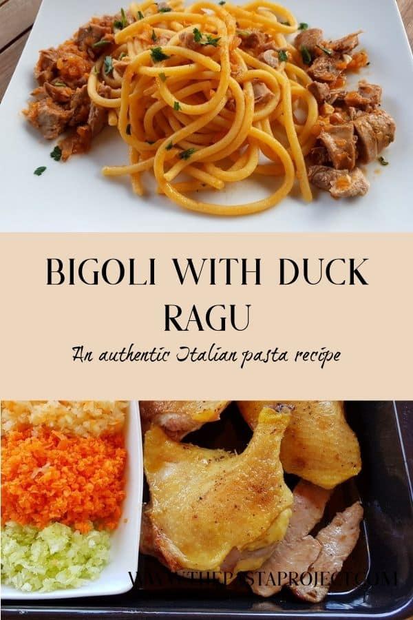 bigoli with duck ragu