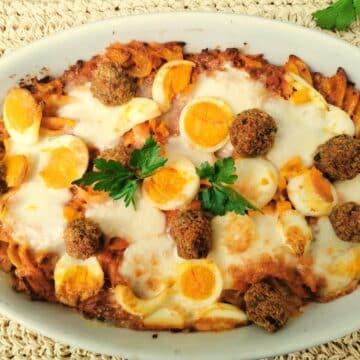 Calabrian baked pasta mbruscinata