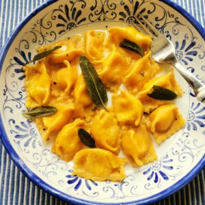 Cheese stuffed agnolotti del plin pasta recipe from Piemonte.