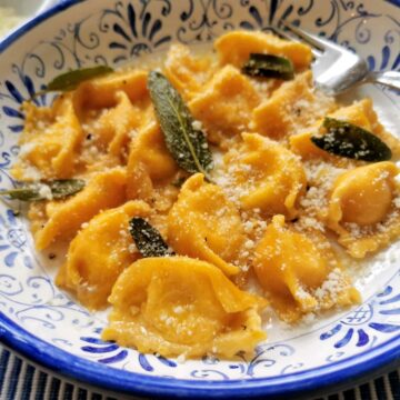 cheese stuffed agnolotti del plin