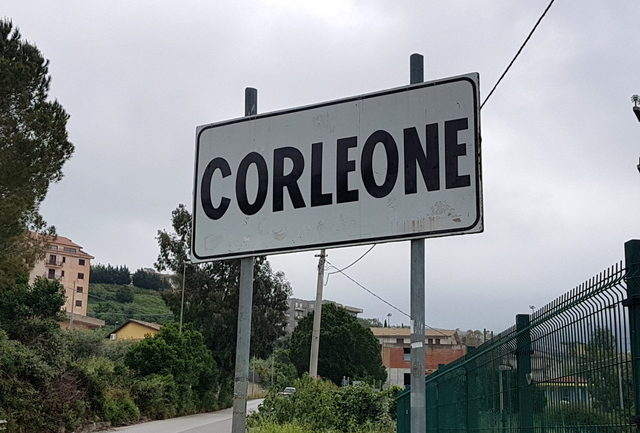 road sign Corleone Sicily
