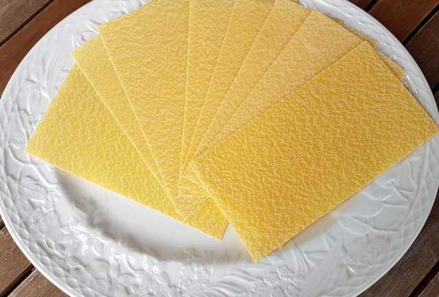 Dried lasagne lasagna pasta