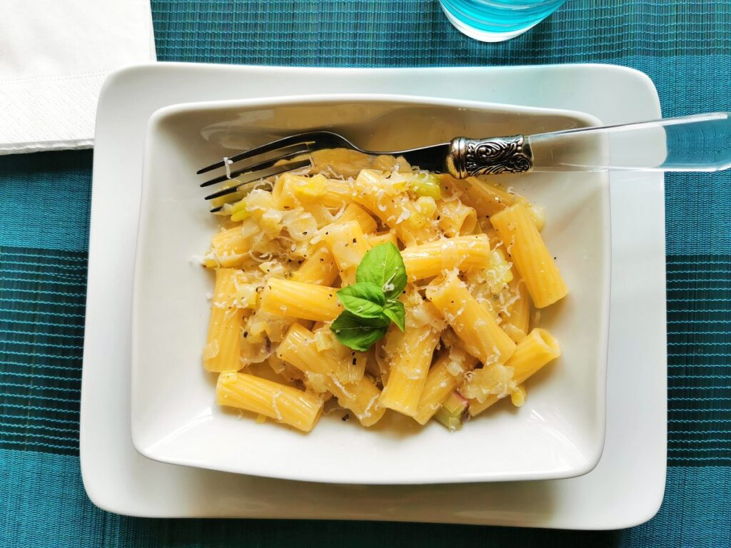 Elicoidali with Tropea onions pasta recipe from Calabria