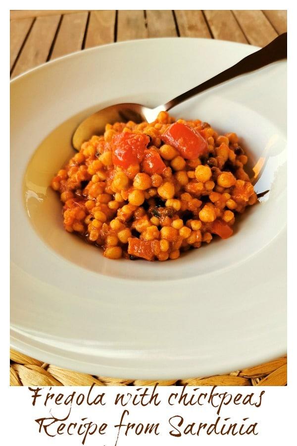 Sardinian fregola with chickpeas