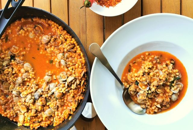 fregola with clams