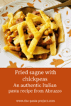 Fried sagne with chickpeas