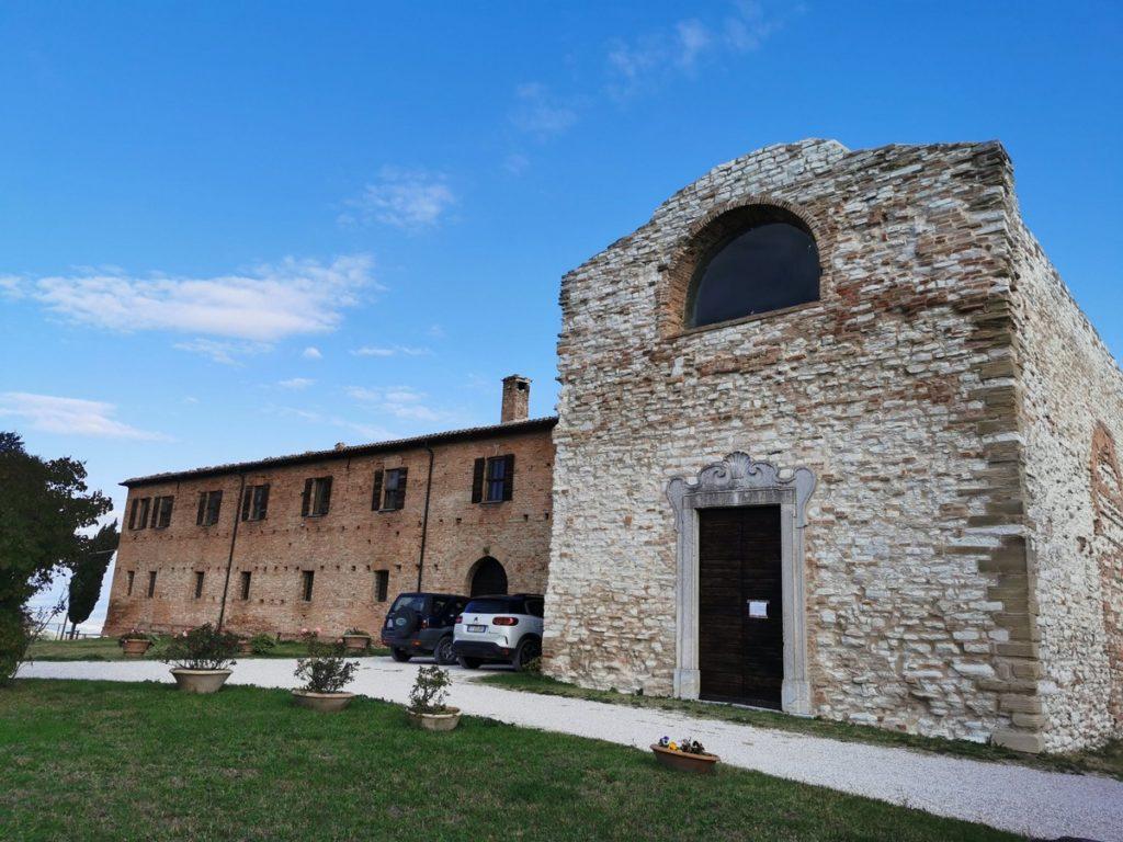 The restored 14th century Monastery of Montebello