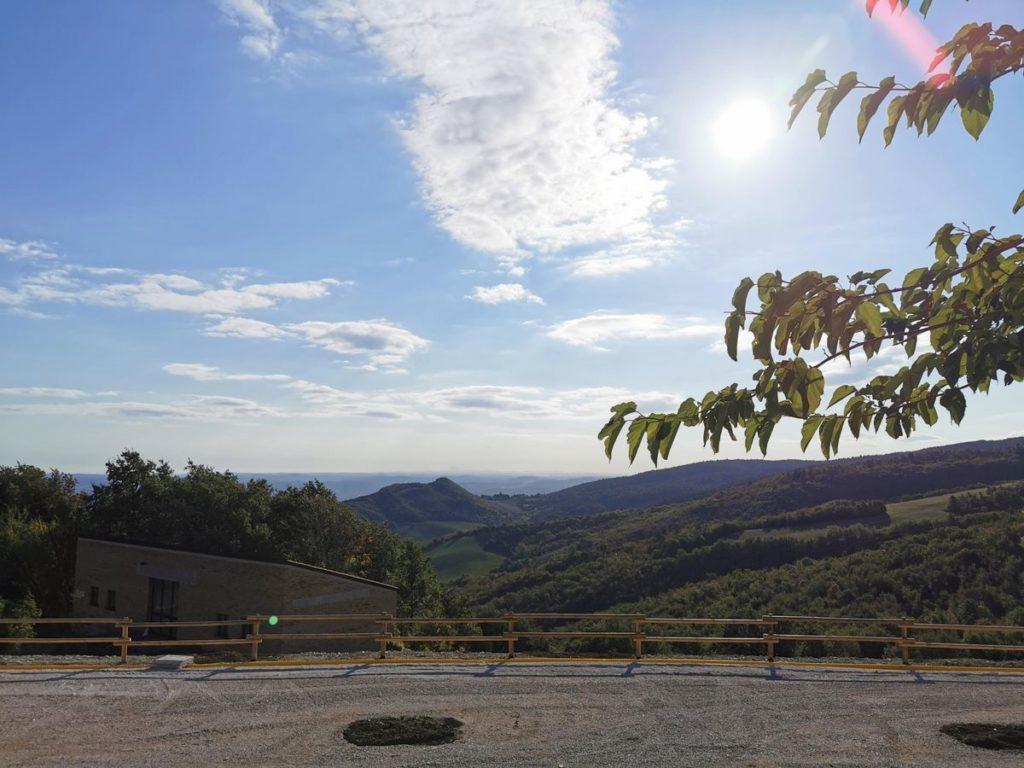 view from the Girolomoni pasta factory