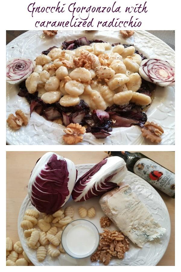 Gnocchi Gorgonzola and radicchio