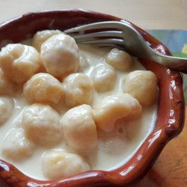 Gnocchi alla Bava; Recipe from the Val d'Aosta