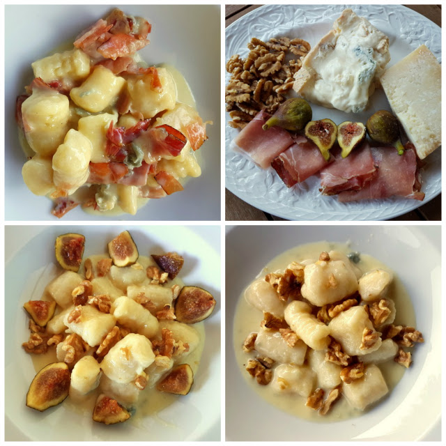 Gnocchi with gorgonzola 3 ways