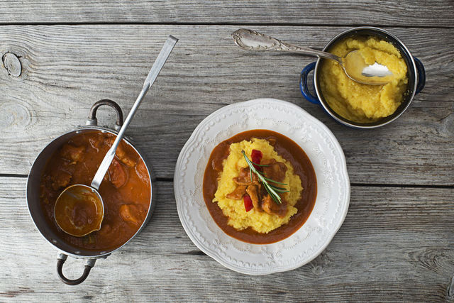 Goulash with polenta Friuli Venezia Giulia