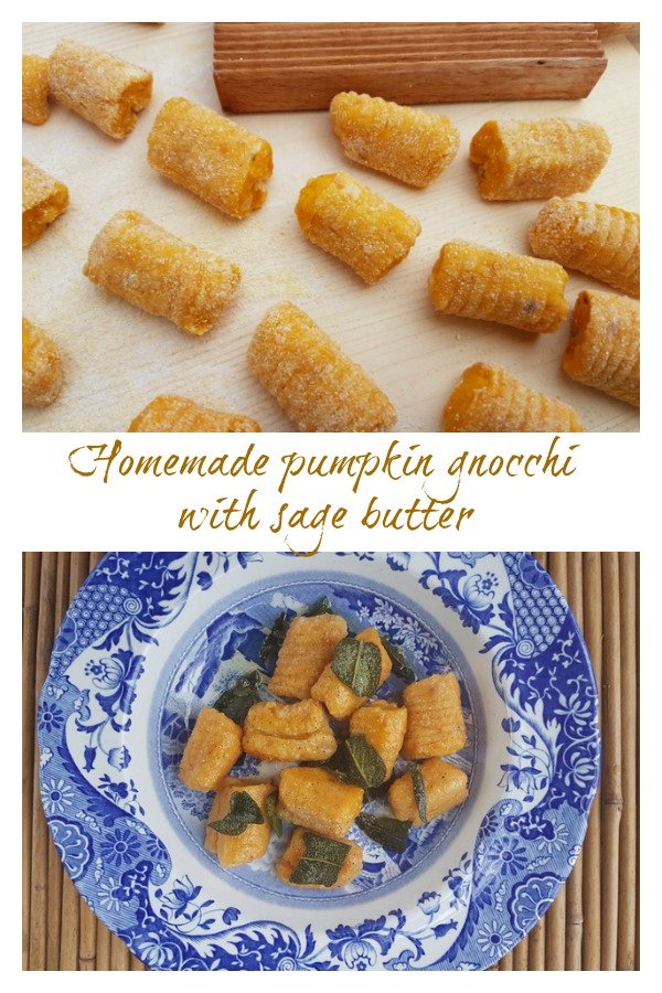 Homemade pumpkin gnocchi with sage butter