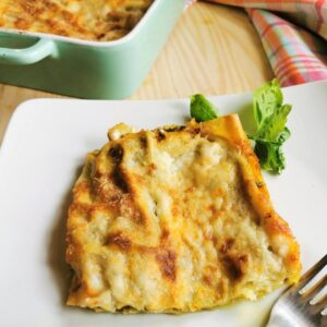 Italian basil pesto lasagne al forno
