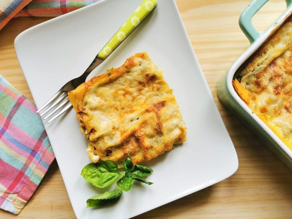 Basil pesto lasagna from Liguria. A summer pasta recipe