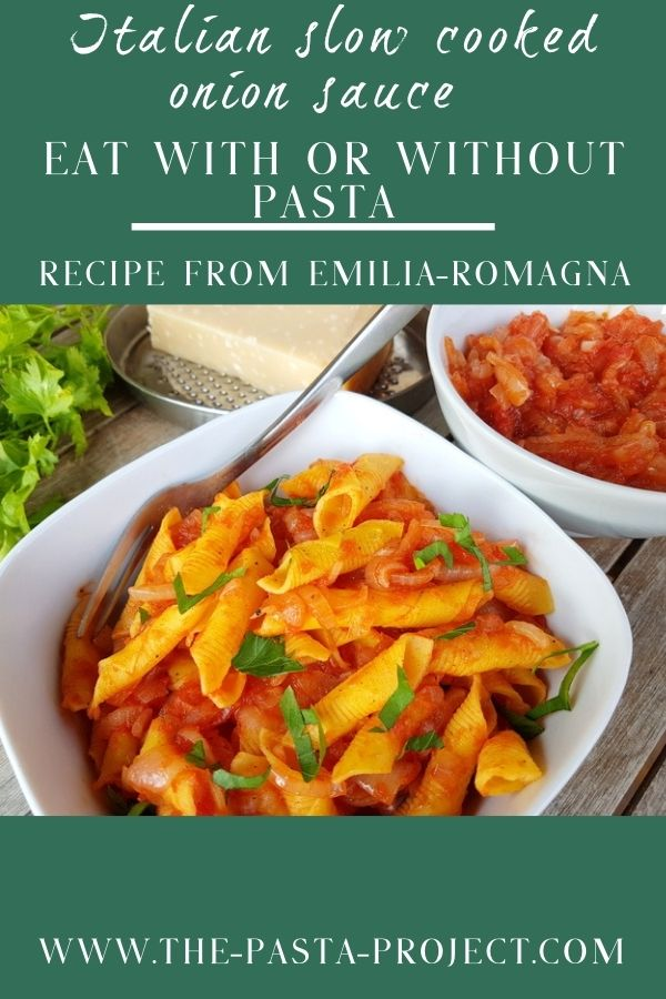 Italian friggione braised onion sauce