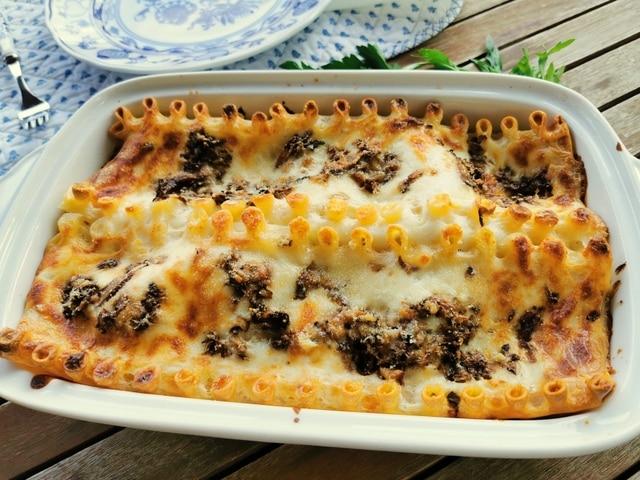 Lasagne aux champignons ricotta italienne al forno