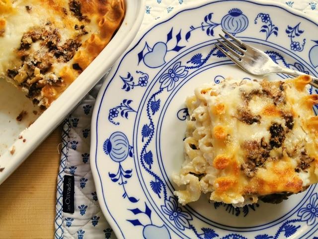 ricotta mushroom lasagna