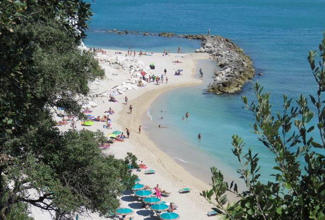view of beach in Sirolo, Le Marche region