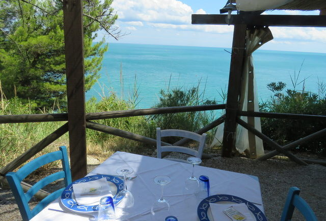 restauramt overlooking the Adriatic in Sirolo, Le Marche region