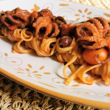 linguine with baby octopus alla Luciana