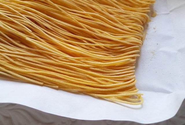 close up of Maccheroncini di Campofilone from Le Marche