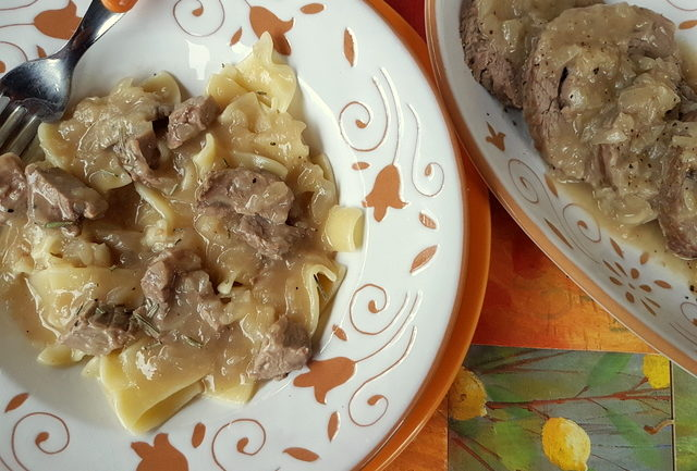 maltagliati with braised veal and onions