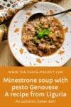 Minestrone with pesto Genovese Recipe from Liguria.