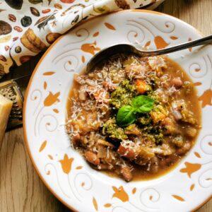 minestrone with pesto Genovese