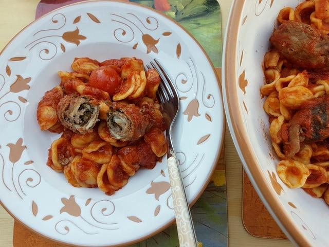 orecchiette with braciole pasta recipes from Puglia