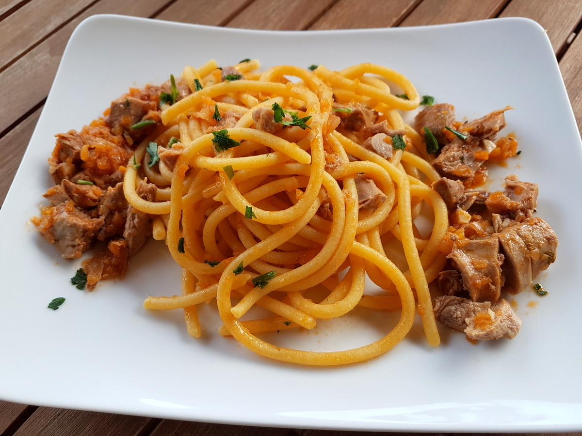 Bigoli with duck ragu pasta recipes from Veneto