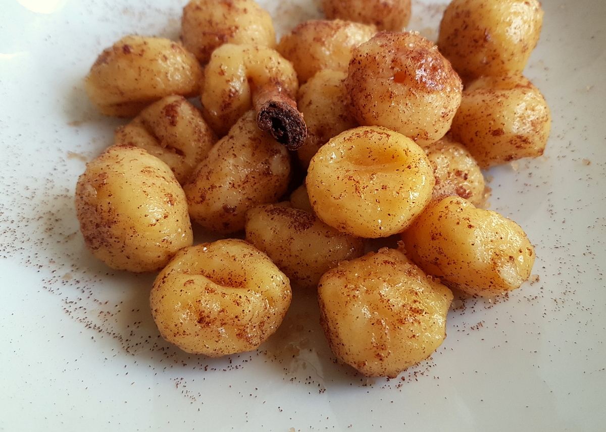 cinnamon butter gnocchi recipe from Veneto