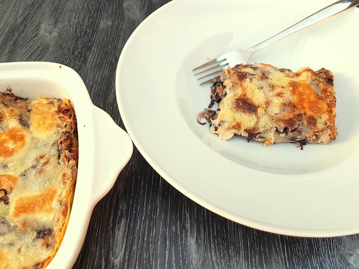 radicchio pasticcio Italian chicory lasagna