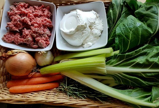 ingredients for Tuscan pasta tordellata