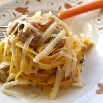 Pasta with cinnamon spiced pork ragu from Friuli Venezia Giulia.