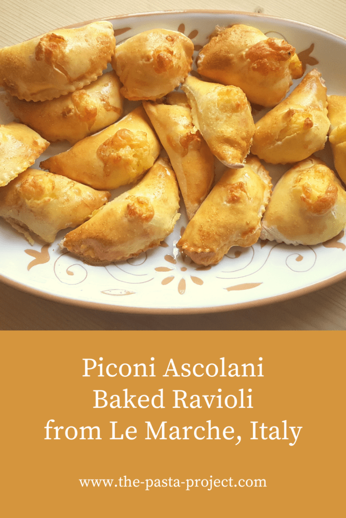 Piconi Ascolani baked Easter ravioli from Marche
