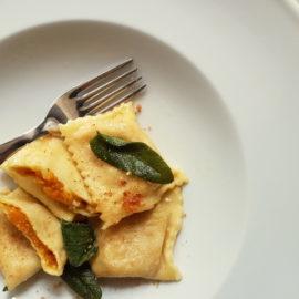 Pumpkin Tortelli; recipe from Mantova