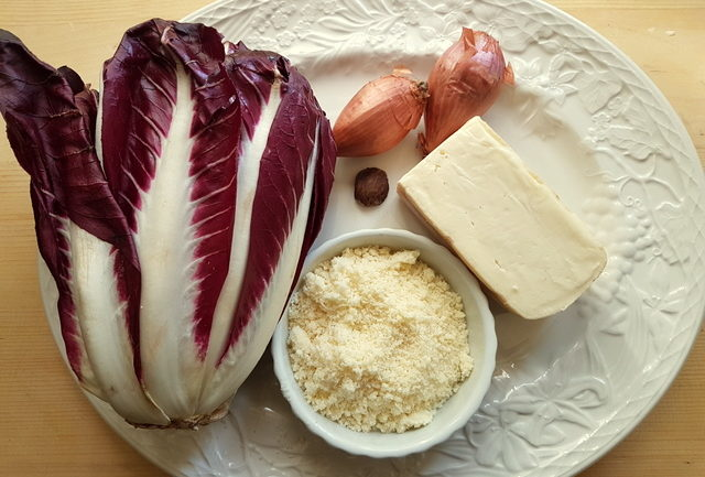 Ingredients for radicchio pasticcio (Italian chicory lasagna)