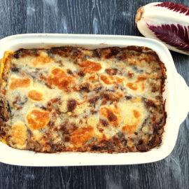 Radicchio pasticcio (Italian chicory lasagna)