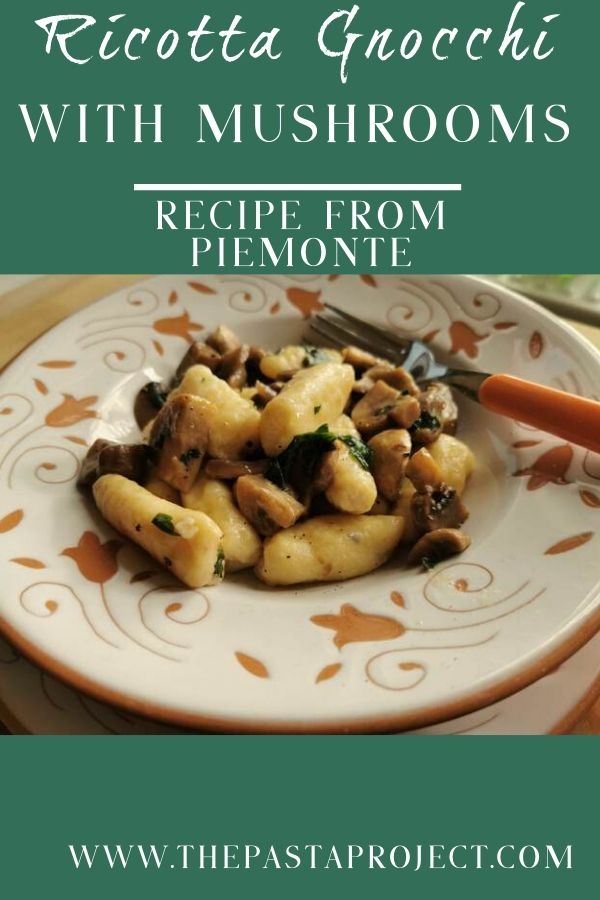 Ricotta gnocchi with mushrooms