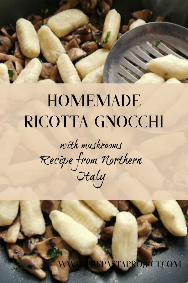 ricotta gnocchi with mushrooms