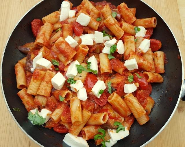 Rigatoni pasta alla parmigiana.