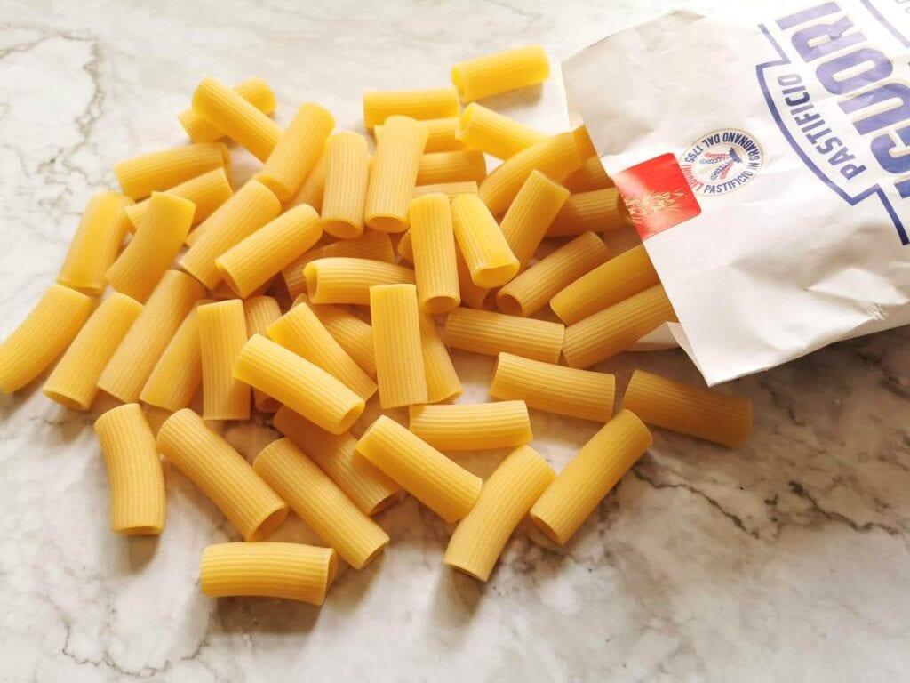 Rigatoni pasta from pasta makers Liguori