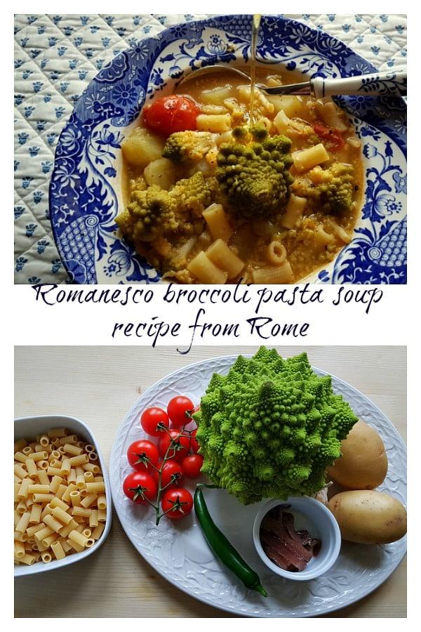 romanesco broccoli pasta soup