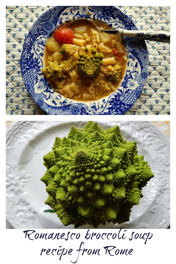 Romanesco broccoli soup from Rome