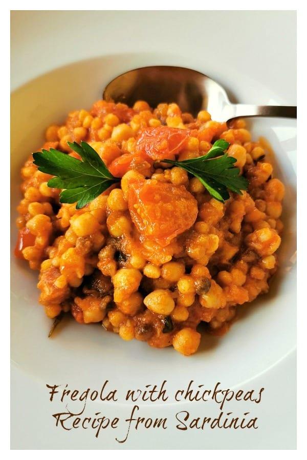 Fregola with chickpeas recipe from Sardinia