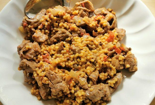 Sardinian fregola with lamb