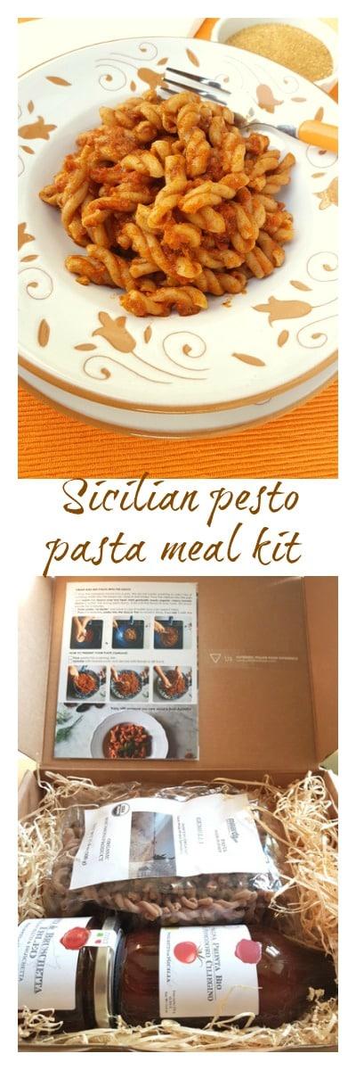 Sicilian pesto pasta meal kit