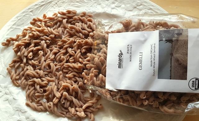 organic Sicilian ancient grains pasta gemelli